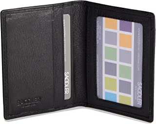 Mens Genuine Leather Minimalist Multi Credit Card Holder | Slim Wallet for Men ID Window | Gift Boxed