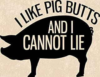 Fun Pig Farm Signs Pigs Butt Sign Funny Gifts for Farmers Pig Butts with Twirly Tail Wall Decor Custom Barn Decorations Pig Owner Signs