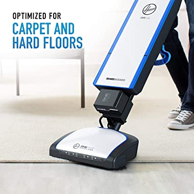 Hoover ONEPWR HEPA+ Cordless Bagged Upright Vacuum Cleaner, Lightweight, For Carpet and Hard Floor, BH55500PC, White