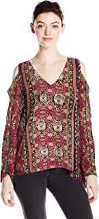 Angie Women's Cold Shoulder Long Sleeve Top