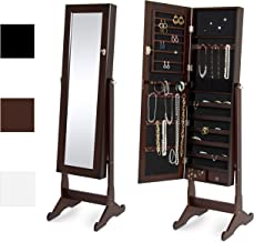brown mirrored jewelry armoire