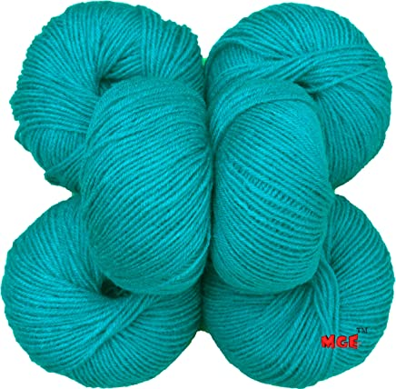Vardhman Baby Soft Ball Hand Knitting Wool,Needle Acrylic Yarn Thread Dyed (Teal 6 pc)