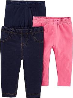 شلوار ساده شادی های ساق بلند 3 پکیج دخترانه کودک و کودک نوپا کارتر