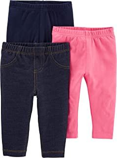 Baby and Toddler Girls' 3-Pack Leggings