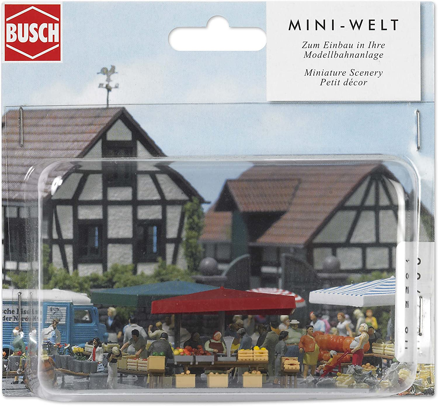 Busch 7706 Fruit & Vegetable Stall HO Scale Scenery Kit