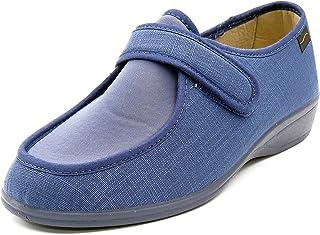 0d20f6508ab Zapatilla Mujer Doctor CUTILLAS en Tejido Licra Color Azul Indigo, Cierre  Velcro - Ancho Especial