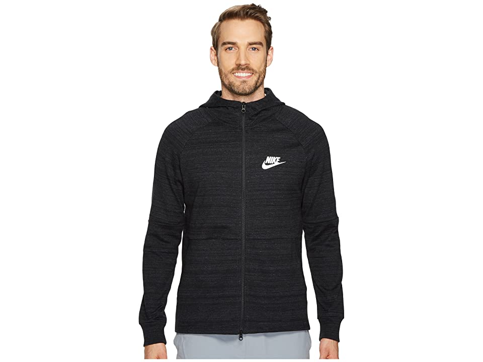 Nike Sportswear Advance 15 Full-Zip Jacket (Black/Heather/Black/White) Men