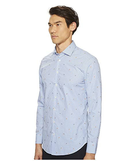 Good Selling Discount Geniue Stockist Etro Gingham Button Down Shirt Blue Y8ulx3