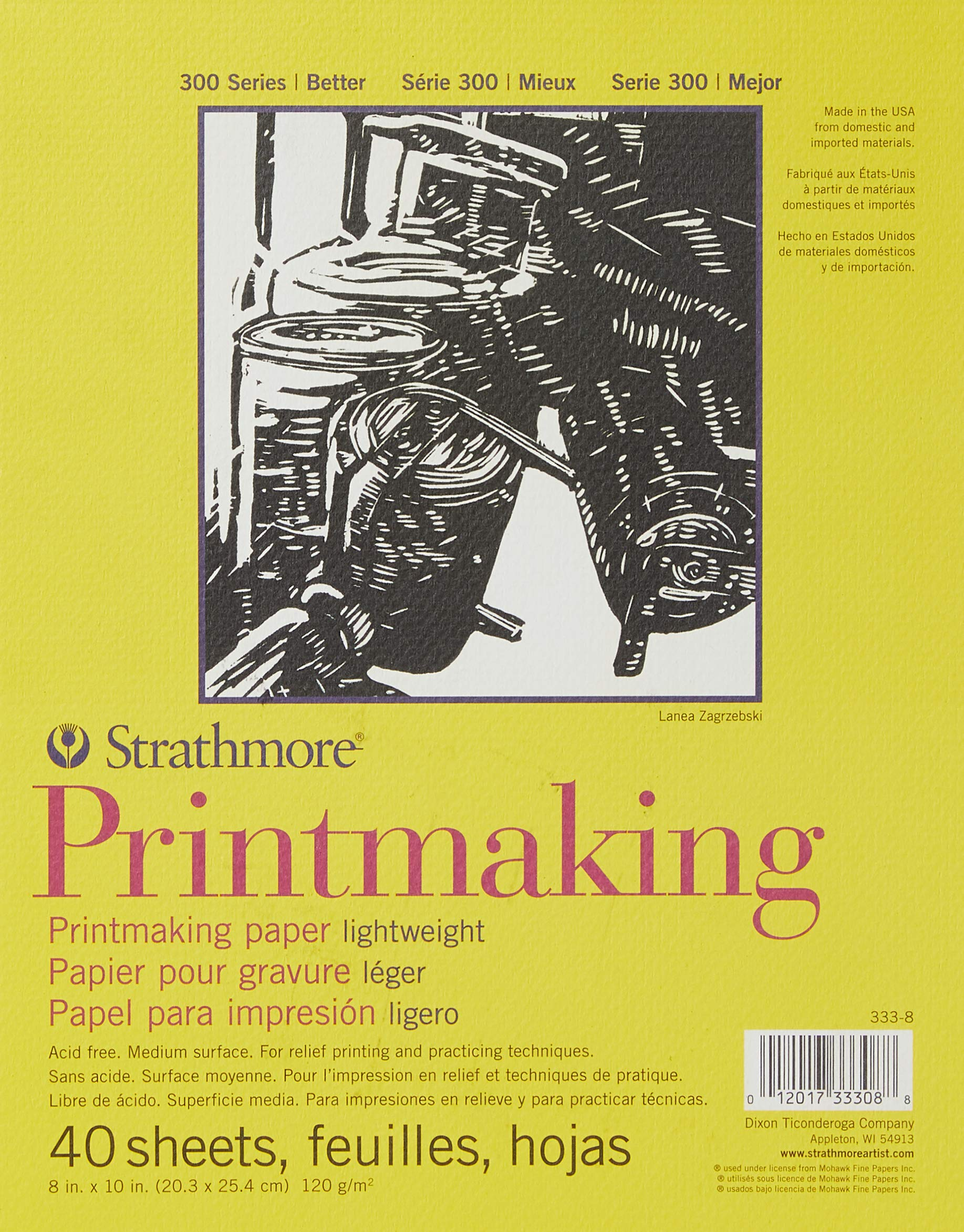 40 Hojas de impresión ligero Strathmore 20x25cm