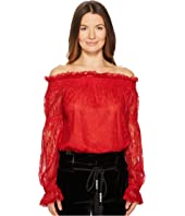 The Kooples - Lace Top with Bare Shoulders
