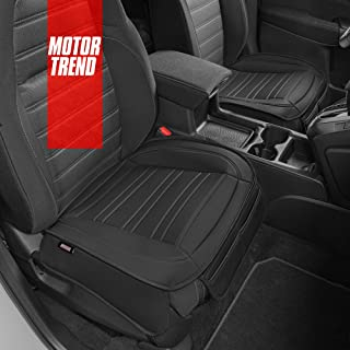 Motor Trend Black Universal Car Seat Cushions, Front Seat 2-Pack – Padded Luxury Cover with Non-Slip Bottom & Storage Pock...