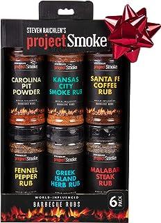 Steven Raichlen`s Project Smoke BBQ Spice Rub Seasoning Combo Gift Box - 6 Pack World Wide Barbeque