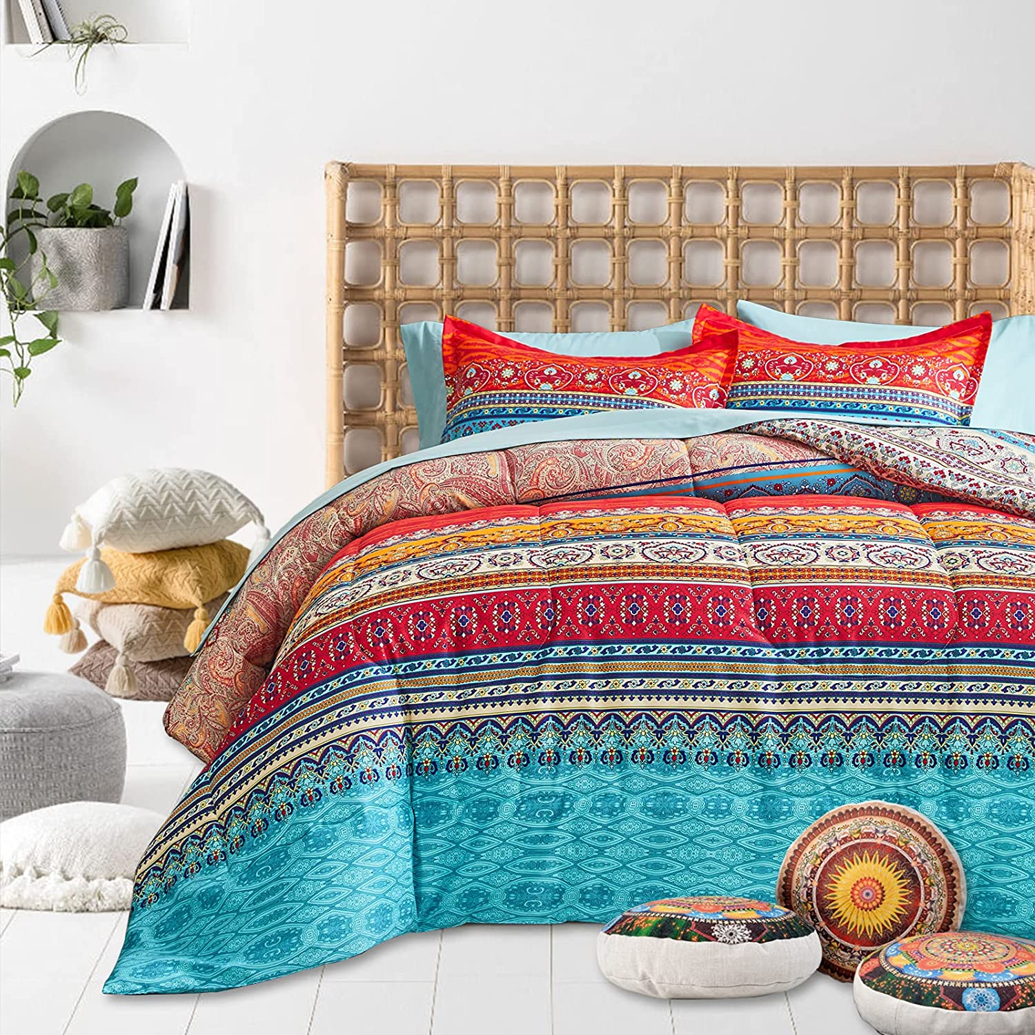 FlySheep Bohemian Tribal Style Comforter Twin Kids Charlotte Mall for Size Set All items free shipping