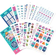 Best Planner Sticker Variety Bundle of 672 Stickers for Productivity, Priorities, Goal Setting, Checkboxes, Deadlines for Calendars and Daily Thankfulness & Gratitude Journals & Bullet Journaling