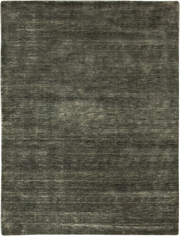 Morgenland Feiner Loribaft Gabbeh Teppich TEPPSTAR 90 x 60 cm Fumatte Eingangsbereich Grau Einfarbig Uni Modern Orient Teppich Orientalisch