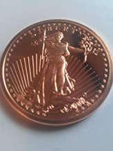 1 Ounce 2012 .999 Pure Copper Bullion Round St Gaudens Design by REEDERSONG