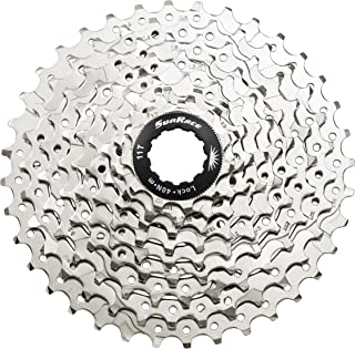 Sunrace CSM99 9-Speed Nickel Plated Spider Cassette with Lockring, 11-36T
