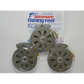 3 Mechanical Fisher's Yo Yo Fishing Reels -Package of 3 Reels- Yoyo Fish Trap -(FLAT TRIGGER MODEL)