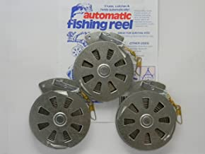 3 Mechanical Fisher's Yo Yo Fishing Reels -Package of 3 Reels- Yoyo Fish Trap -(FLAT TRIGGER MODEL)