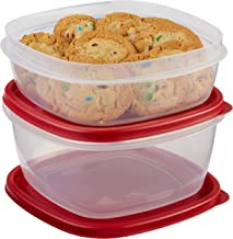 Rubbermaid Easy Find Lids Food Storage Container, 4-Piece Set, Red (1787251)