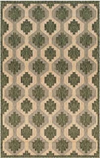M By Liora CR458A01206 Area Laguna Geometric Indoor/Outdoor Rug, 4'10