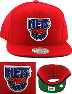 sports shoes 8511c d3ad2 New Jersey Nets New Brooklyn Mitchell   Ness Retro Red Blue Era Snapback  Hat Cap