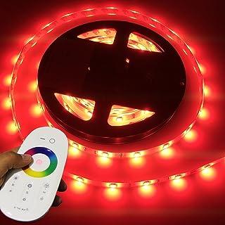 LIGHTEU, LED 5 mètres bandes professionnelle RGB (30 LED/m IP65), 12V, Multicolore, Contrôleur sans fil et Télécomande à d...