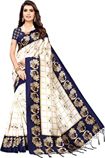 PISARA Women's Art Silk Saree With Un-stitched Blouse