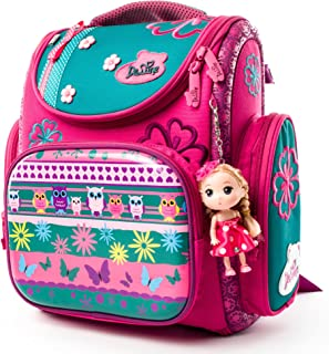 3D Cartoon Kids Boys Girls Toys Lightweight Backpack | Water Resistant Isolated Back to School Bag (Flower)