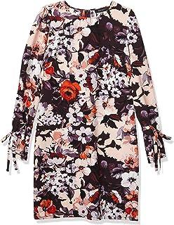 فستان نسائي بتصميم مطبوع مزين بالزهور و اكمام طويلة من ناين ويست