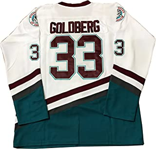 Greg Goldberg #33 Mighty Ducks Movie Hockey Jersey White