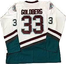 Greg Goldberg #33 Mighty Ducks Movie Hockey Jersey White