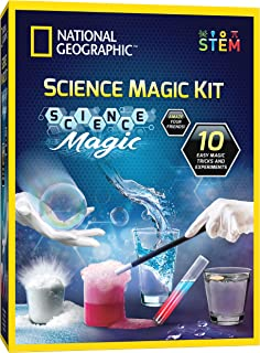 NATIONAL GEOGRAPHIC Magic Chemistry Set - Perform 10 Amazing Easy Tricks with Science, Create a Magic Show with White Glov...