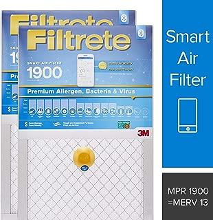 Filtrete 16x25x1 Smart Air Filter, MPR 1900, Premium Allergen, Bacteria & Virus AC Furnace Air Filter, 2-Pack - S-UT01-2PK-6E