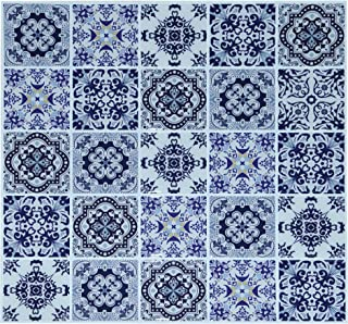 """Crystiles Peel and Stick 3D Talavera Tiles, Item #91010895, 10"""" X 10"""", 6 Sheets Pack"""