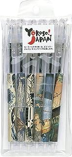 セーラー万年筆 油性ボールペン 浮世絵 風景画 6本 15-4901-002