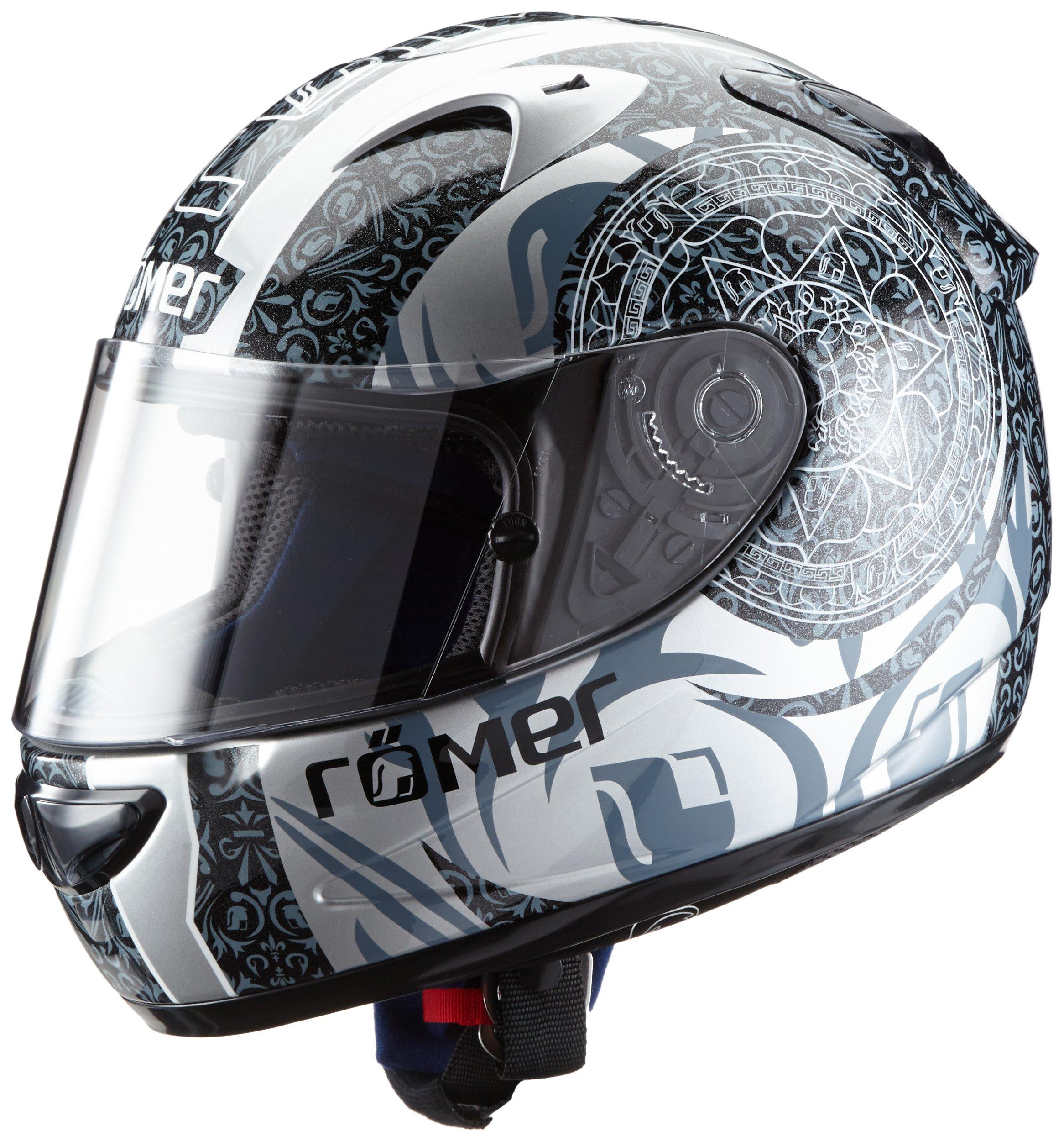 Amazon.es: Römer Mandala Casco Integral de Motocicleta, Negro/Gris, XL