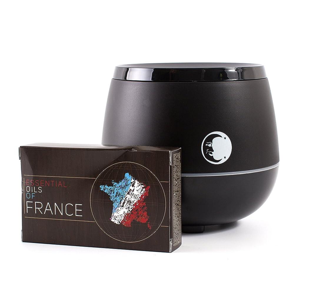 モチーフ無謀勃起Mystic Moments   Black Aromatherapy Oil Ultrasonic Diffuser With Bluetooth Speaker & LED Lights + Essential Oils Of France Essential Starter Pack