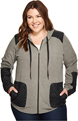 Columbia - Plus Size Warm Up Hooded Fleece Full Zip