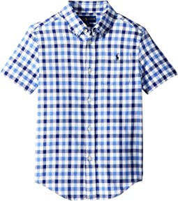 Plaid Performance Oxford Shirt (Little Kids/Big Kids)