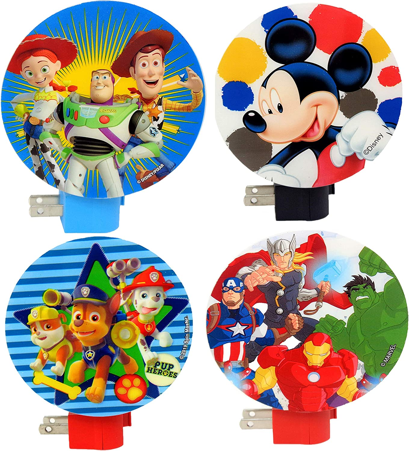 Disney Night New products Regular store world's highest quality popular Light for Kids Bedroom 4 Pack