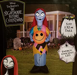 Gemmy Corp Nightmare Before Christmas Sally with Pumpkin LED Lighted Halloween Airblown Inflatable (5FT)