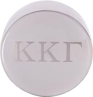 Kappa Kappa Gamma Round Engraved Pin Box Sorority Greek Decorative Case Great for Rings, Badges, Jewelry kkg (Round Metal Letter Pin Box)