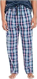 Nautica Men's Soft Woven 100% Cotton Elastic Waistband Sleep Pajama Pant, J Navy, Small