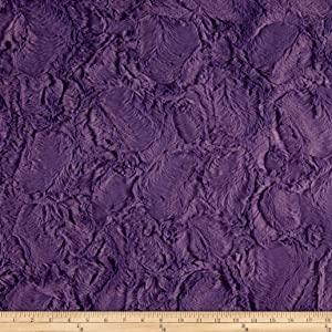 Shannon Fabrics Minky Luxe Cuddle Hide Fabric by The Yard, Violet