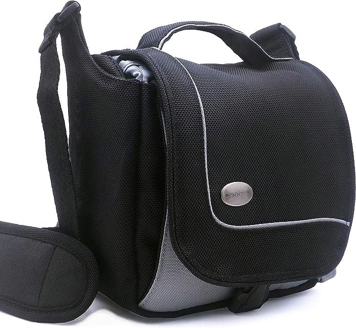 Baxxtar Sportsbag Camera Bag Negro - Compatible con Panasonic DC FZ82 DMC FZ2000 FZ1000 FZ300 FZ72 - Sony RX10 III IV HX400 - Canon SX70HS SX540HS
