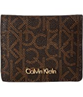 Calvin Klein - Small Half Flap Monogram Wallet