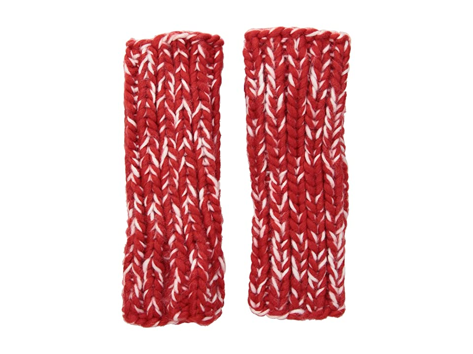 San Diego Hat Company KNG3592 Chunky Marled Knit Fingerless Gloves (Red) Dress Gloves
