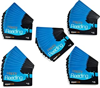 Amazon.com $15 Gift Cards, Pack of 50 (Amazon Kindle Card Design)