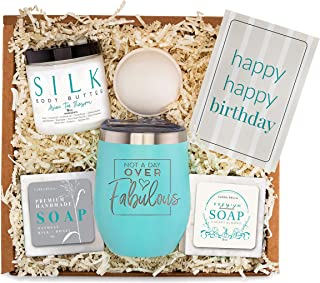 Birthday Gifts Basket for Women - Best Friend Bday Gift for Woman -Happy Birthday Care Box Idea for Her - Surprise Spa P...
